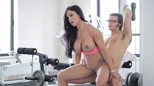 Huge Titted MILF Fucked In Gym